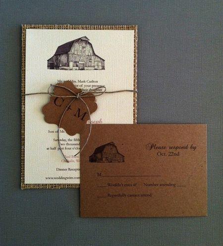 rustic+farm+wedding+invitations | Wedding Invitation of the Day: Barnyard Celebration : Brides