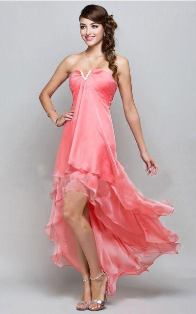 None Ankle-length A-line Empire V-neck Formal Dresses mdea7075