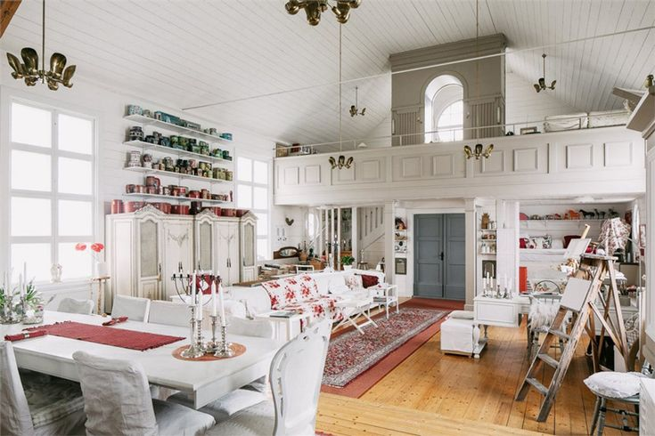 Swedish church converted into a home.