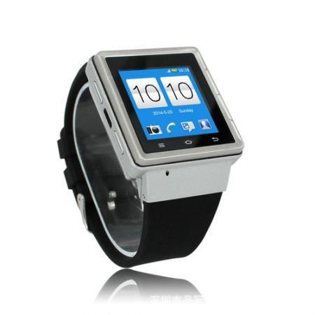S6 Watch Phone - Android 4.04, 3G, Dual Core Processor, Bluetooth, Wi-Fi, 2MP Camera, - Silver