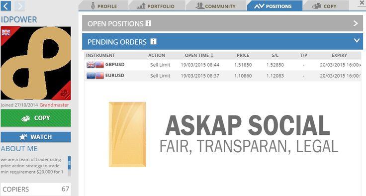Bacoran signal dari Master Traders Askap Social Trade