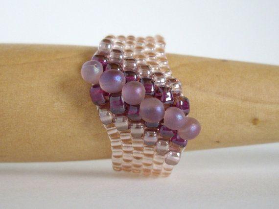 Anillo peyote anillo de tejido semilla grano anillo por MisakoBeads