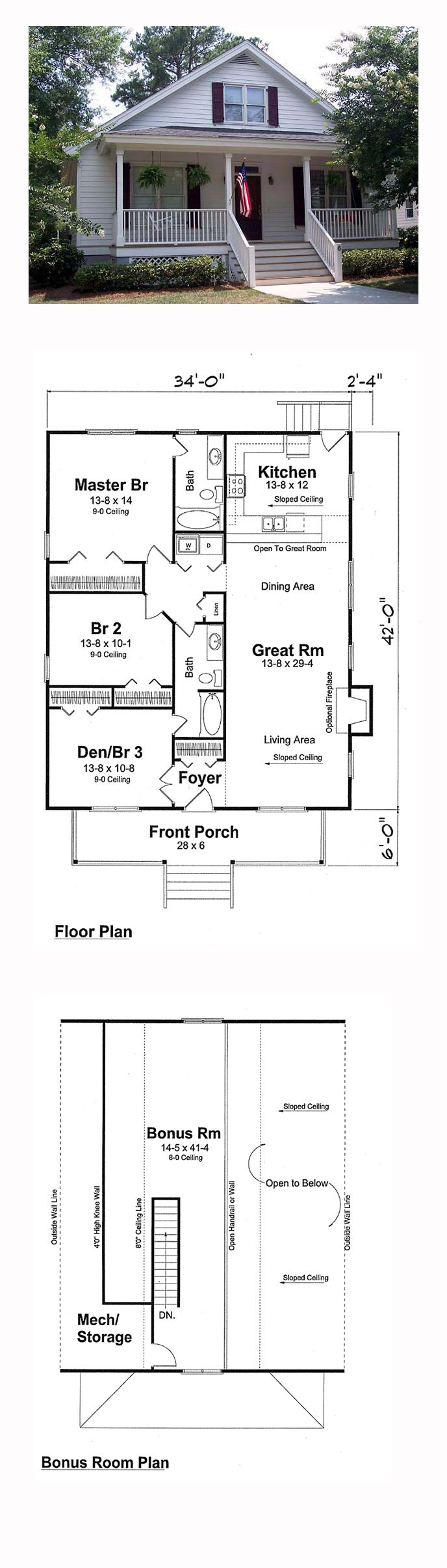 69 best Bungalow House Plans images on Pinterest Bungalow house