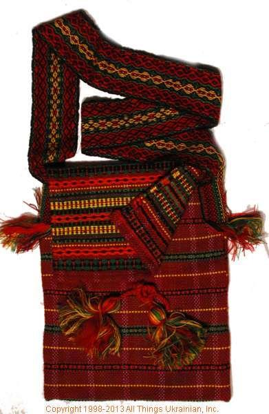 Handmade and hand woven Ukrainian over the shoulder handbag # HB13-004 Sold on  https://www.allthingsukrainian.com/Cloth/handbags/Thumb/Page1.php