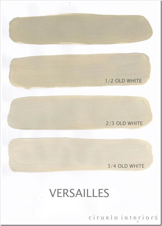 Chalk Paint® decorative paint by Annie Sloan ~ Versailles with varying amounts of Old White