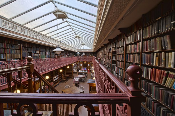 The Leeds Library, a private subscription library in Leeds, Yorkshire. Photo by Michael D. Beckwith.