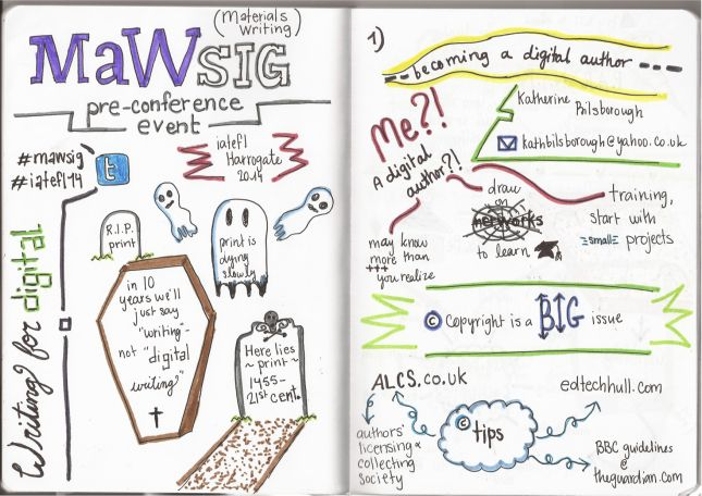 "IATEFL Harrogate and MaWSIG PCE: Katherine Bilsborough's ""Becoming a digital author"""