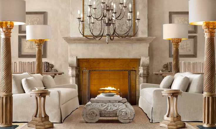Loving 4 floor lamps with the focus in the center of the room ...