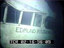 The SS Edmund Fitzgerald sunk in Lake Superior on November 10, 1975