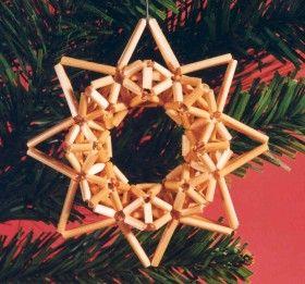 Straw Christmas ornament