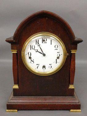 Mahogany Cased Waterbury Clock Co. Chime Clock. 16 ½