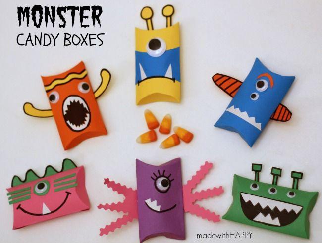 monster cand boxes kids halloween craftshalloween candyhalloween ideaskids