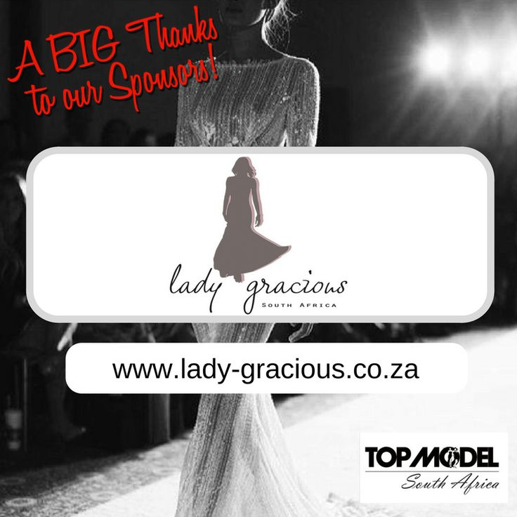 Thanks to Lady-Gracious South Africa/Man of GOD South Africa for your sponsorship! We appreciate your support!  Visit them on www.lady-gracious.co.za #TMSA17 #TMSASponsor