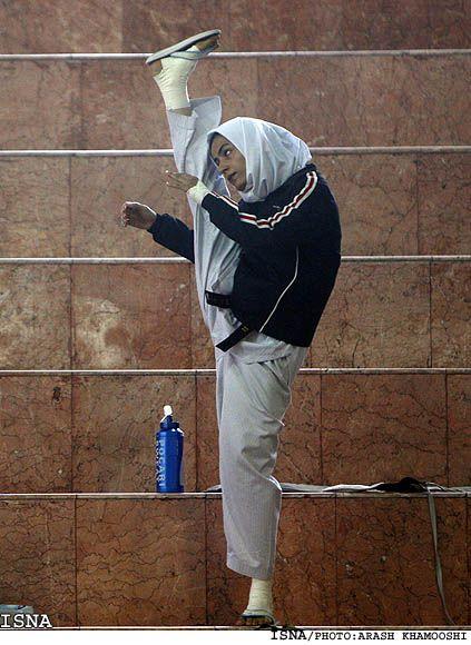 Sarah Khoshjamal Fekri is a Muslim taekwondo Olympian