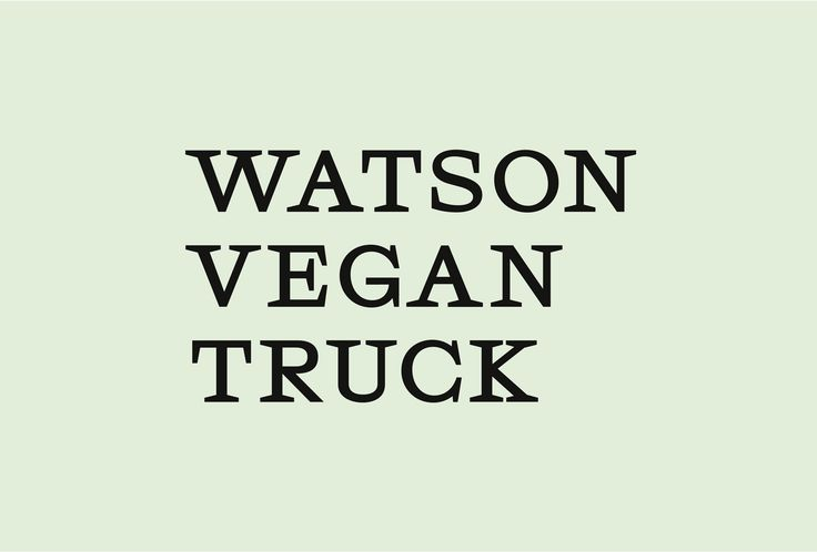 Picture of 1 designed by Donovan Bernini for the project Watson Vegan Truck. Published on the Visual Journal in date 6 April 2017