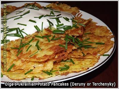 Ukrainian Potato Pancakes (Deruny or Terchenyky)