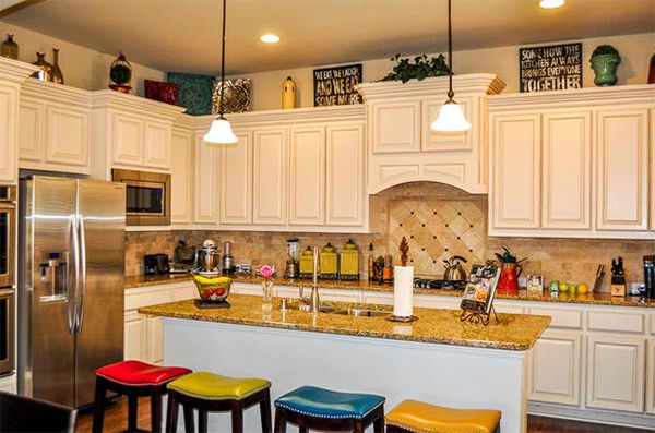 How to Decorate the Top of Kitchen Cabinets | Home Design Lover