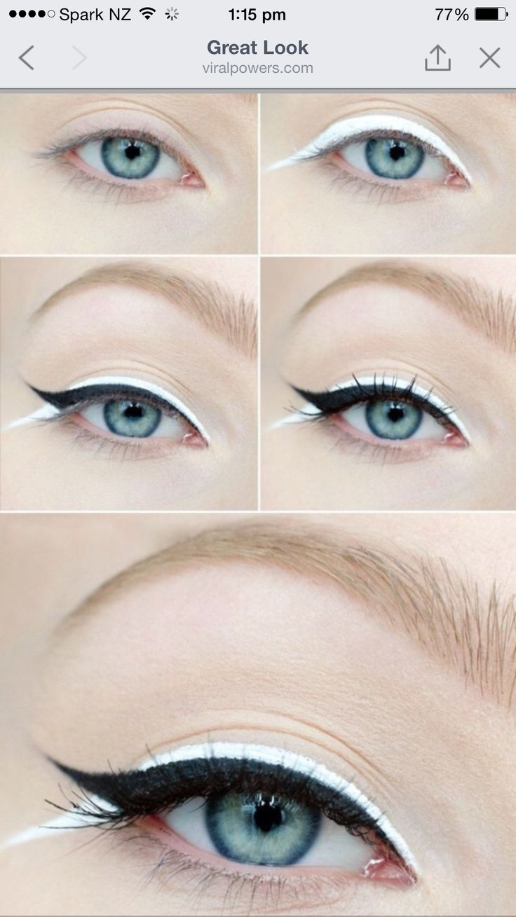 Arrows in front of a liquid eyeliner, pencil or something else Whats better