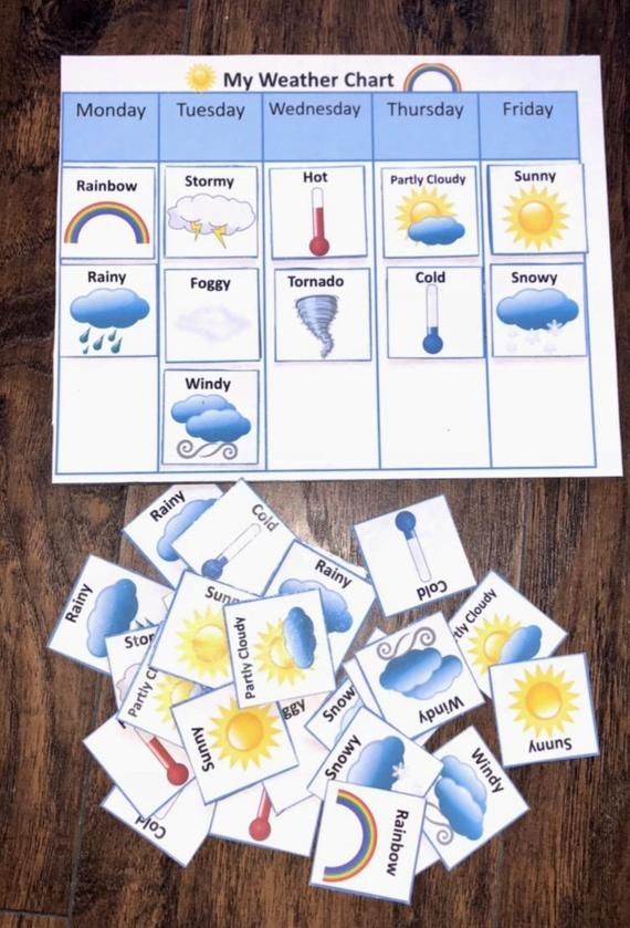 Weather Chart Magnetic Board Educational Play Learning Toy Etsy Weather Chart Fun Magnets Charts For Kids