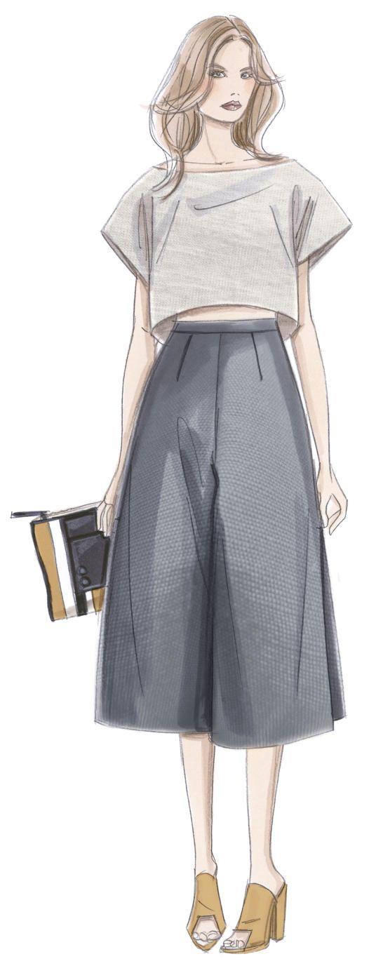 Fashion sketch illustration                                                                                                                                                      Más