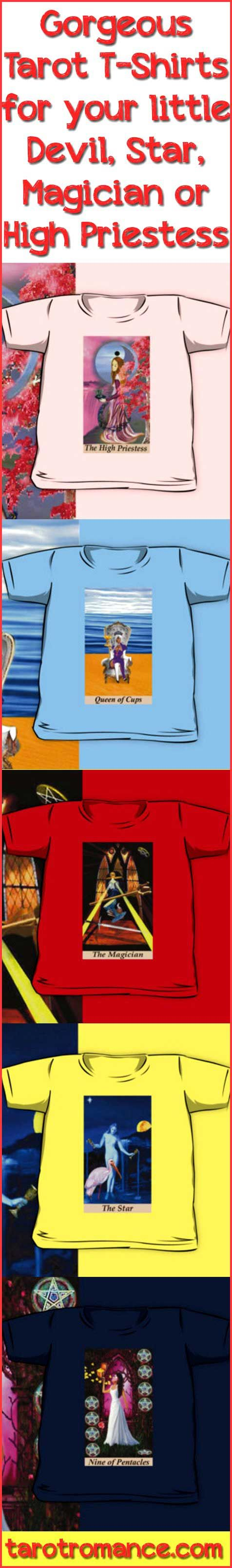 Children's Tarot T-Shirts for your little Devil, Star or High Priestess! #tarotcards