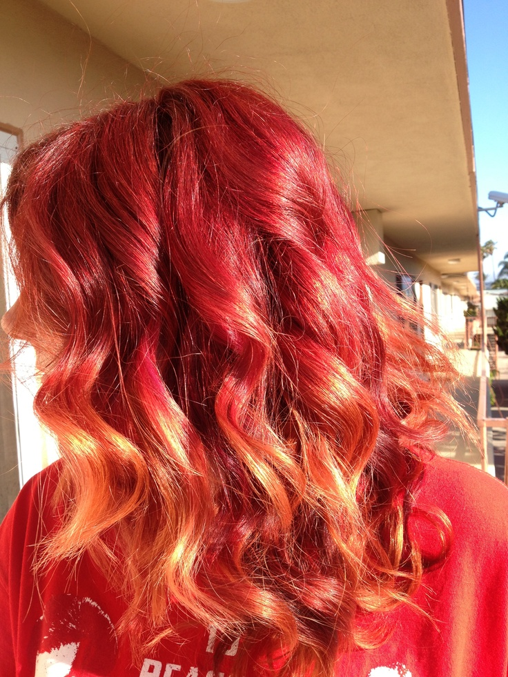 crazy red hair