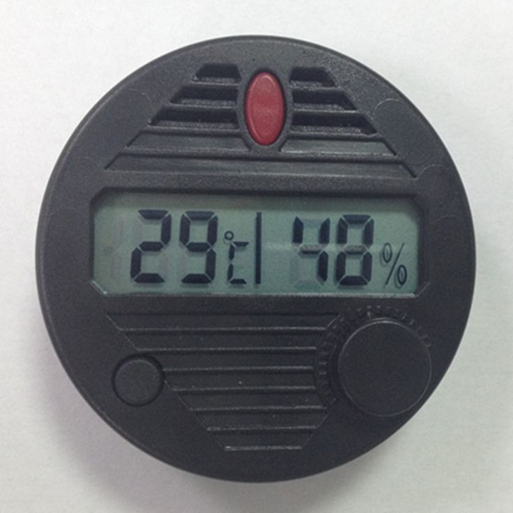 Hot Sale Hygroset II  Round Accurate Electronic Cigar Hygrometer for humidor