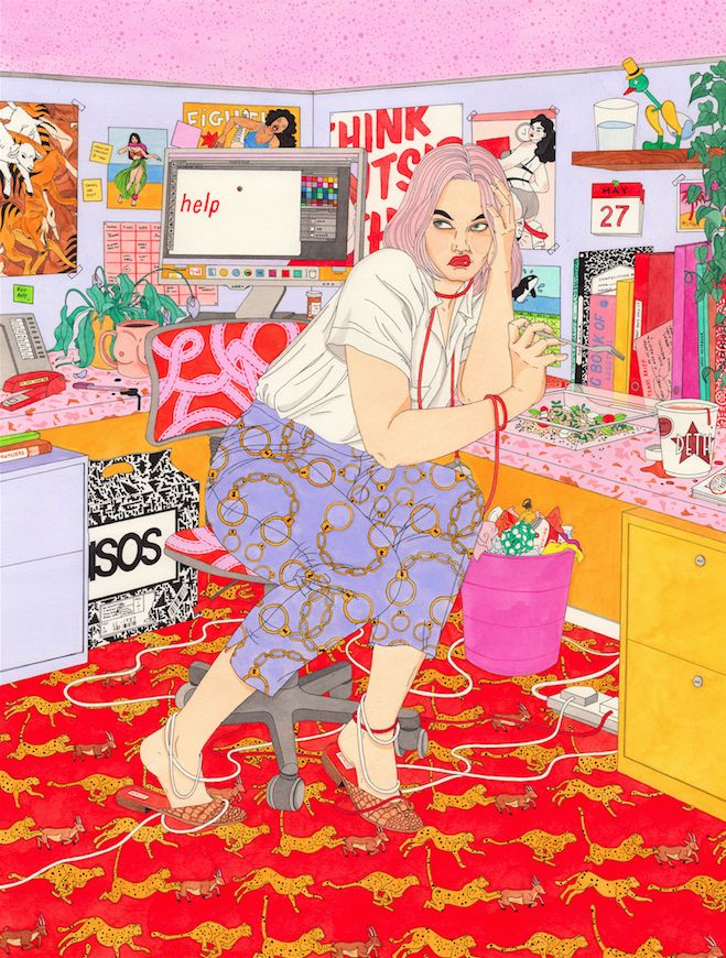 "Illustrations of Women Aspiring for the New ""Normal"" 