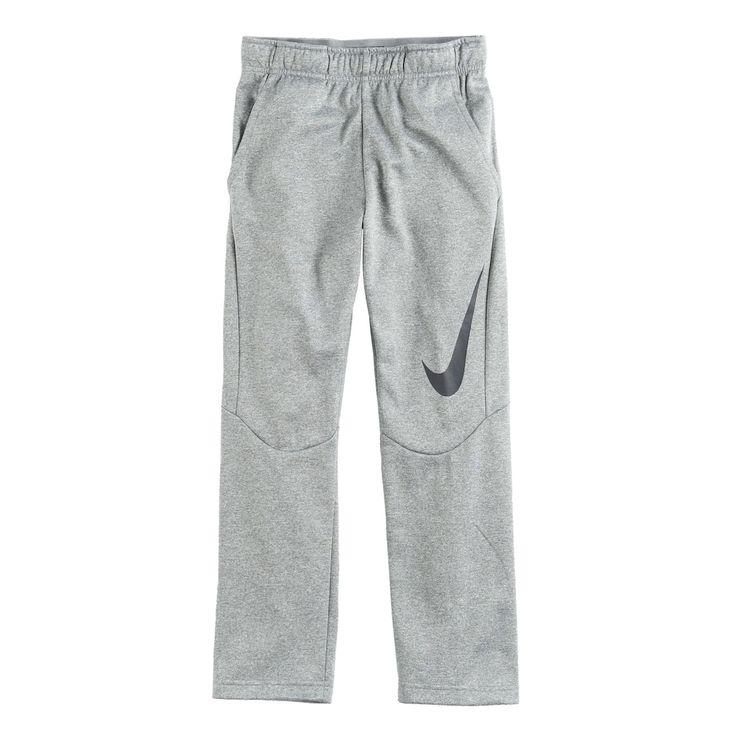 Boys 8-20 Nike Therma Big Logo Pants, Size: Medium, Grey Other