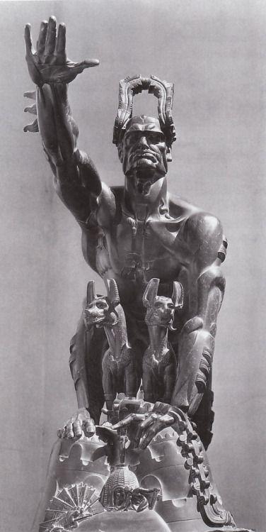 camerettasabauda:  stanislaw szukalski, remussolini, 1932