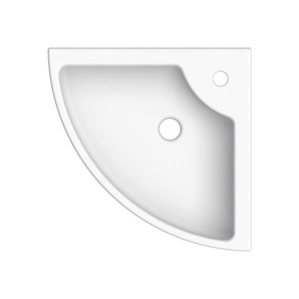 Badvaske > Hjørne, Sinks; Square E White; Hvid porcelæn