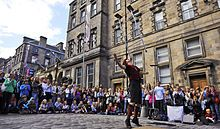 Edinburgh Fringe Festival - largest arts festival in August
