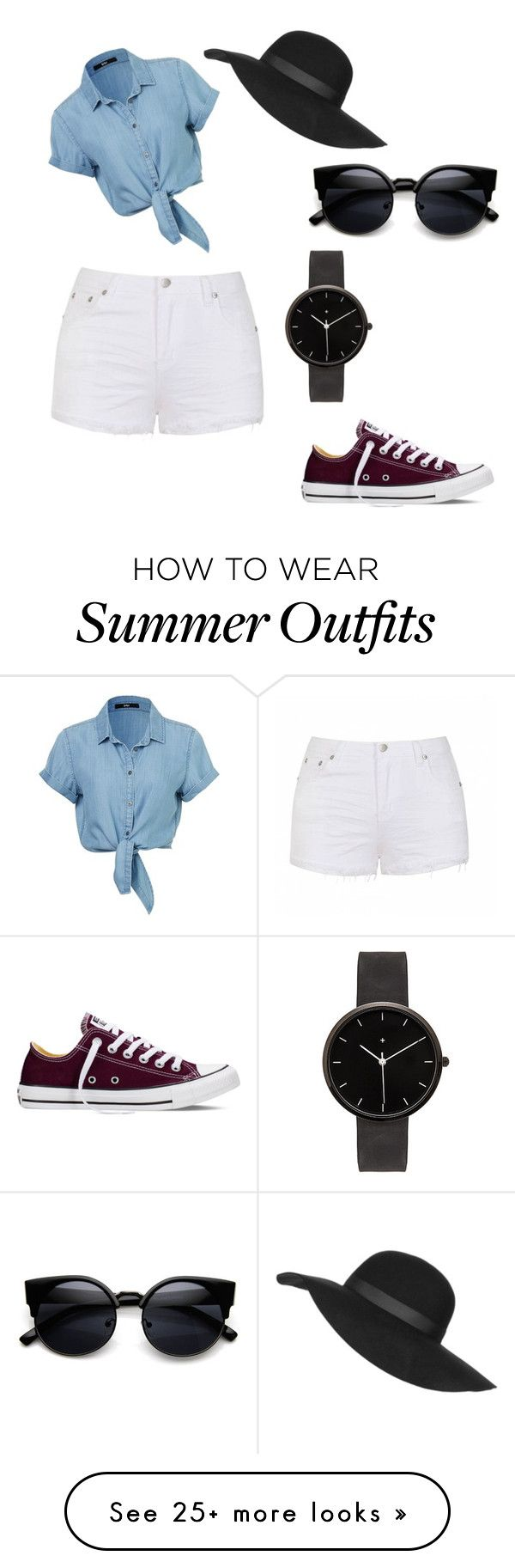 """""""cute summer outfit"""" by cgraves12 on Polyvore featuring Ally Fashion, Topshop, Converse, I Love Ugly, women's clothing, women, female, woman, misses and juniors"""