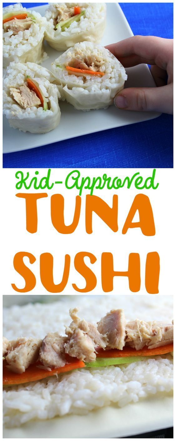 Kid-Approved Tuna Sushi is fun and the kids will actually eat it! No seaweed! #OnlyAlbacore AD #CG #BumbleBeeTuna