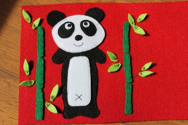 felt panda, filc panda Kaliniaki