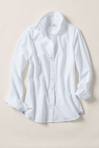 Women's Heritage Oxford Shirt from Lands' End Canvas. White