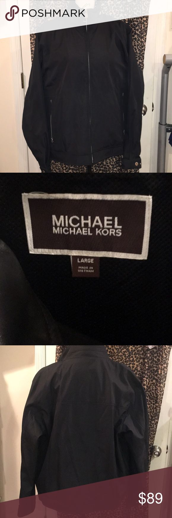 NWOT Michael Kors Mens jacket Like new /never worn. Just purchased & Tags were just taken off but didn't fit. Beautiful jacket. Size large. Price may be slightly neg for serious buyer through offer option. KORS Michael Kors Jackets & Coats Windbreakers