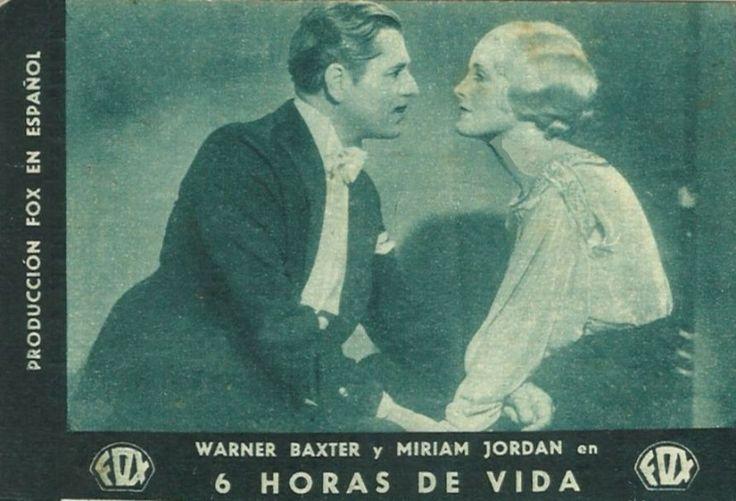 """6 horas de vida (1932) """"6 Hours to Live"""" de William Dieterle - tt0023480"""