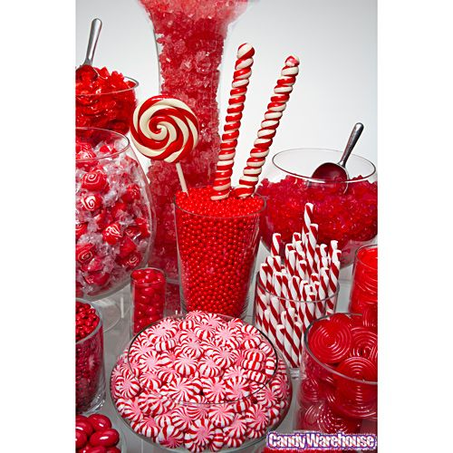 valentine candy buffet ideas | Red Candy Buffets | Photo Gallery | CandyWarehouse.com Online Candy ...