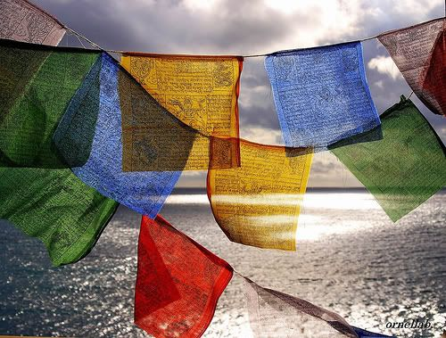 Tibetan prayer flags.. I travel with mine... they are currently here with me in my room in Iraq ;-)  THANK YOU @Paul Nanda