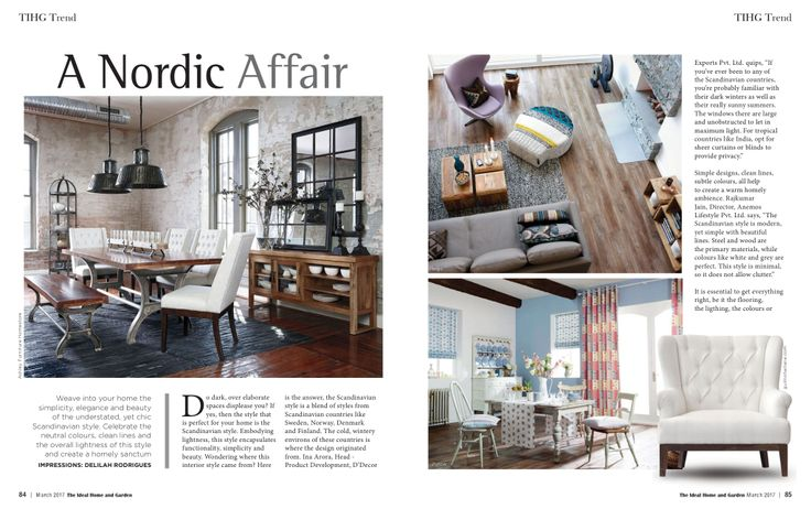 Weave into your home the simplicity, elegance and beauty of the understated, yet chic Scandinavian style. Our Paris Loveseat got featured in The Ideal Home and Garden magazine.  Product Link - http://www.gulmoharlane.com/products/loveseat-tufted-3