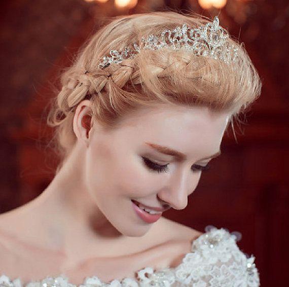 Bridal Tiara Bride Rhinestone Tiara Wedding by DesignByIrenne