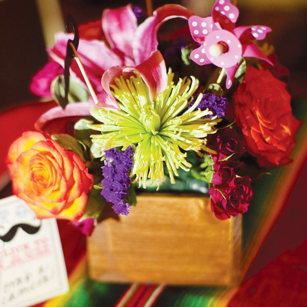 Colorful & Modern Fiesta Engagement Party // Hostess with the Mostess®
