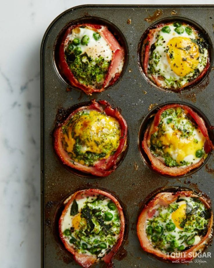 Our Green Bacon + Egg Cupcakes from the 8-Week Program have been an absolute hit. More recipe ideas on the blog. – I Quit Sugar
