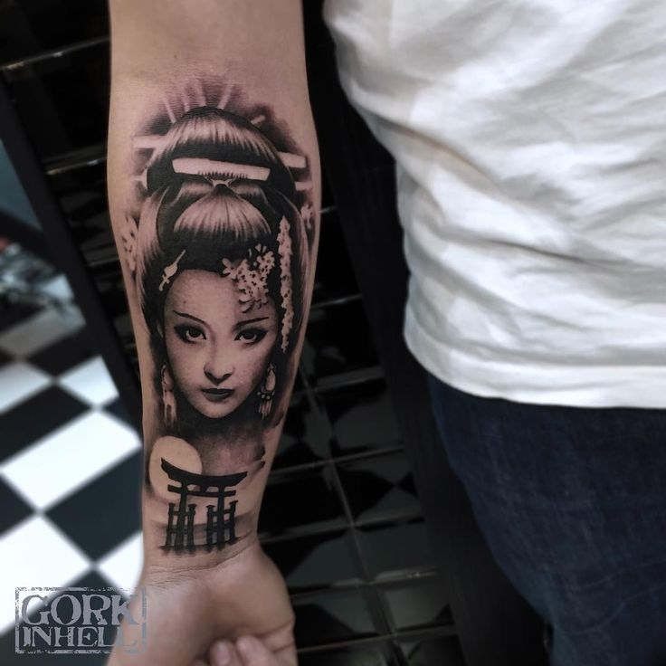 Awesome Geisha tattoo done by Gork Hell Tattoo