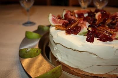 A cake like an angel.