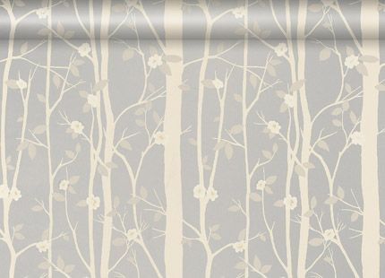 Laura Ashley Cottonwood Leaf Metallic Wallpaper, Silver
