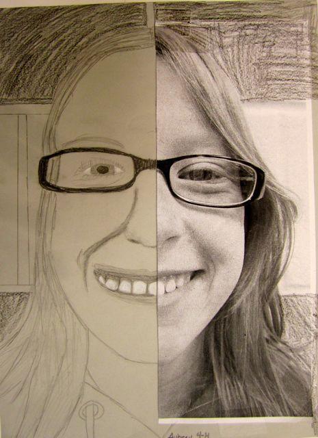 A través de esta actividad los alumnos tendrán que dibujar la otra parte de la cara (si son de cursos bajos sería dibujar algo de menor dificultad). Así aprenderán el concepto de simetría
