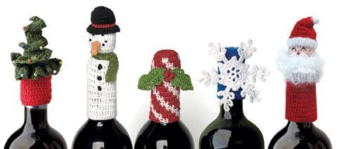 Crochet Wine Toppers- broken link, just inspiration.