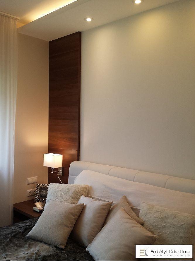 Modern hálószoba természetes színekkel